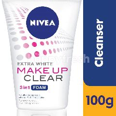Nivea Make Up Clear 3 In 1 Extra White Facial Foam