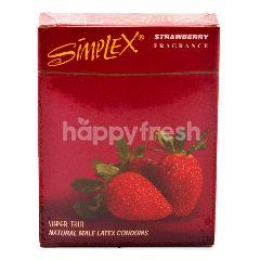 Simplex Kondom Lateks Alami Pria Super Tipis Aroma Stroberi