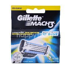 Gillette Mach 3 Turbo Blade (2Pieces)