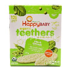 Happy Baby Organic Teethers Pea & Spinach Wafers