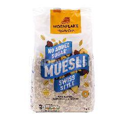 MORNFLAKE Mighty Oats No Added Sugar Muesli Swiss Style