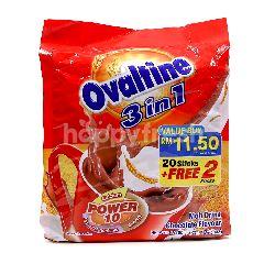 Ovaltine 3 In 1 Chocolate Flavour Malt Drink (22 Sticks)