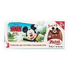Zaini 3 Cokelat Susu Telur dengan Hadiah Mickey Mouse di dalamnya