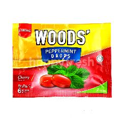Woods' Strong Peppermint Lozenges Cherry (6 Pieces)