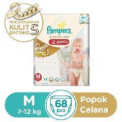 Pampers Perlindungan Premium Celana Popok Bayi Aktif Ukuran M untuk Bayi dengan Berat Badan 7-12Kg