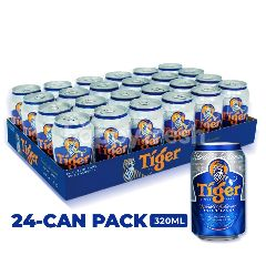 Tiger Lager Beer Cans 24x320ml