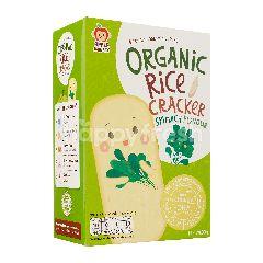 APPLE MONKEY Organic Rice Cracker - Spinach (30g)