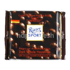 Ritter Sport Cokelat Hitam Kacang Hazel Utuh