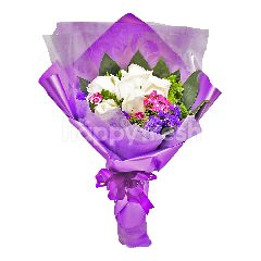 Imported White Rose Bouquet