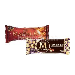 Wall's Magnum Almond Es Krim 90ml dan Wall's Magnum Hazelnut Luxe Es Krim 80ml