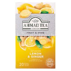 Ahmad Tea London Revitalise Lemon & Ginger Tea (20 Tea Bags)